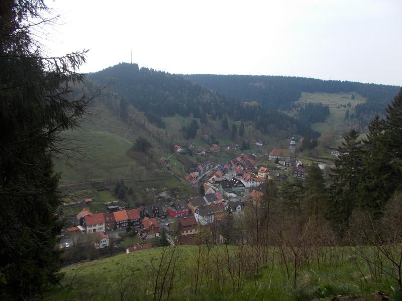 Schöne Aussicht auf Wildemann